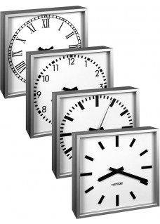 NISTIME analog outdoor clock, square,  different variations