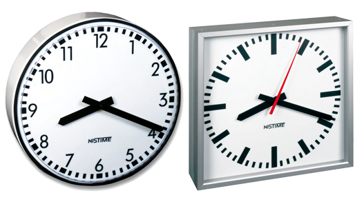 Analogue outdoor clocks