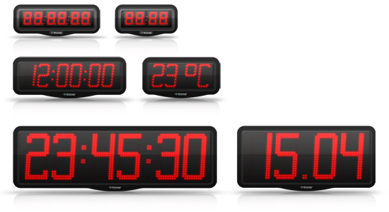 LED indoor clocks