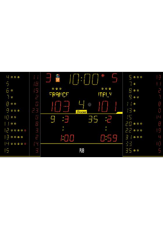 K-8NT325-FS10 ALPHA, Sportergebnisanzeige für Innen
