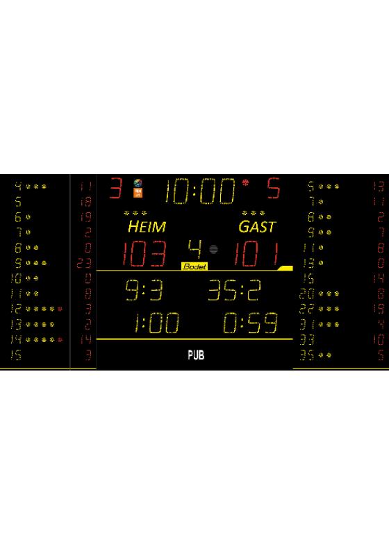 K-8T225-FS10 ALPHA, Sportergebnisanzeige für Innen