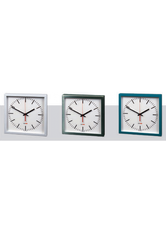 NISTIME analog indoor clock, square,  different variations