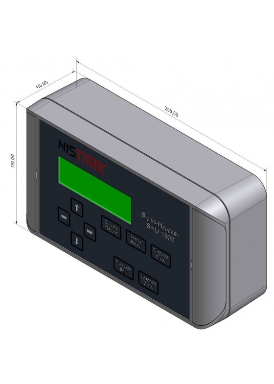 K-SHU1500 master clock for operation of clock systems