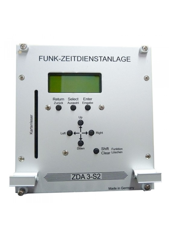 "K-ZDA3-S2 master clock for operation of clock systems, 19"" rack version"