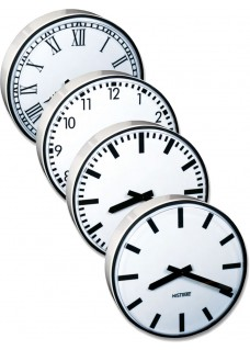 NISTIME analoge outdoor clock, round,  different variations