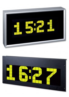 LCD alpha numerical display for time date and temperature as mounting kit