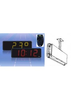 LED numerical display for time date and temperature as mounting kit