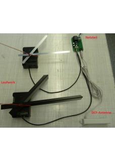 K-W14 Funkuhrwerk für Innenuhren bis 50cm Durchmesser mit absetzbarer Antenne und 230VAC