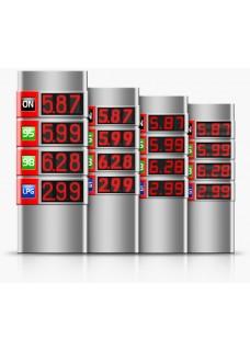 Gas station price display, brand NIS RGB