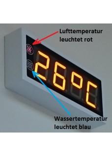 Temperaturanzeige (Wasser + Luft)